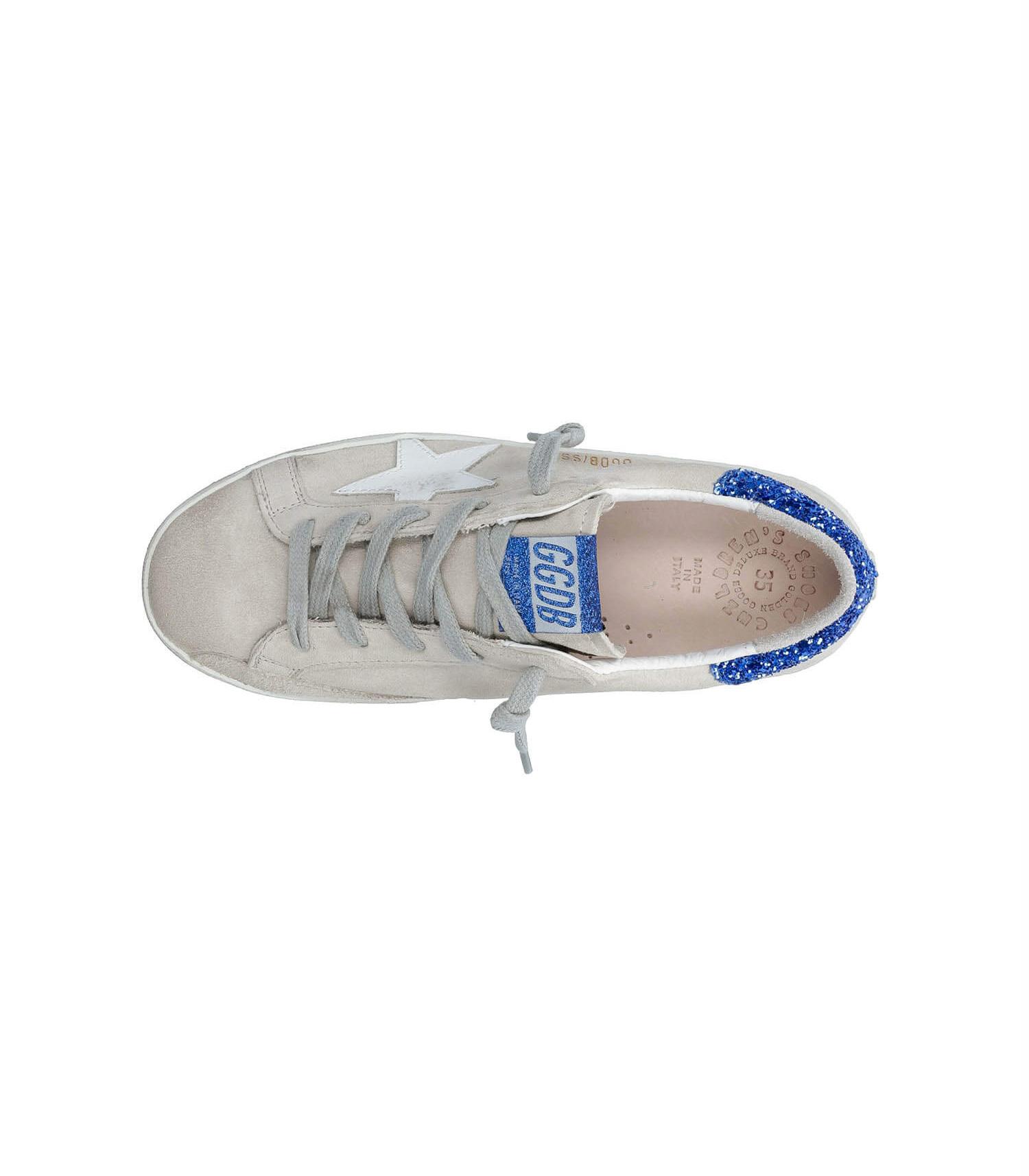 Baskets Super-Star enfant Patch Paillettes Bleues Etoile blanche