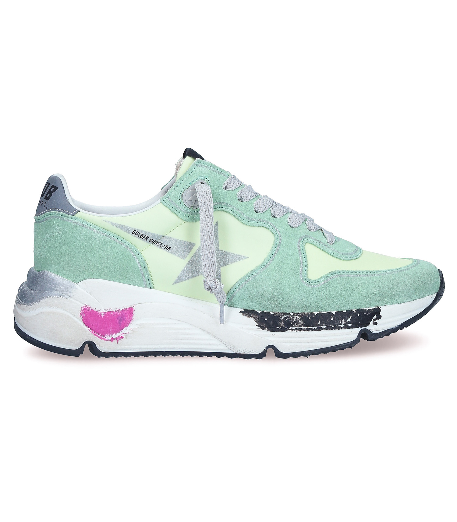 Sneakers Running Sole Mint Reflective Star