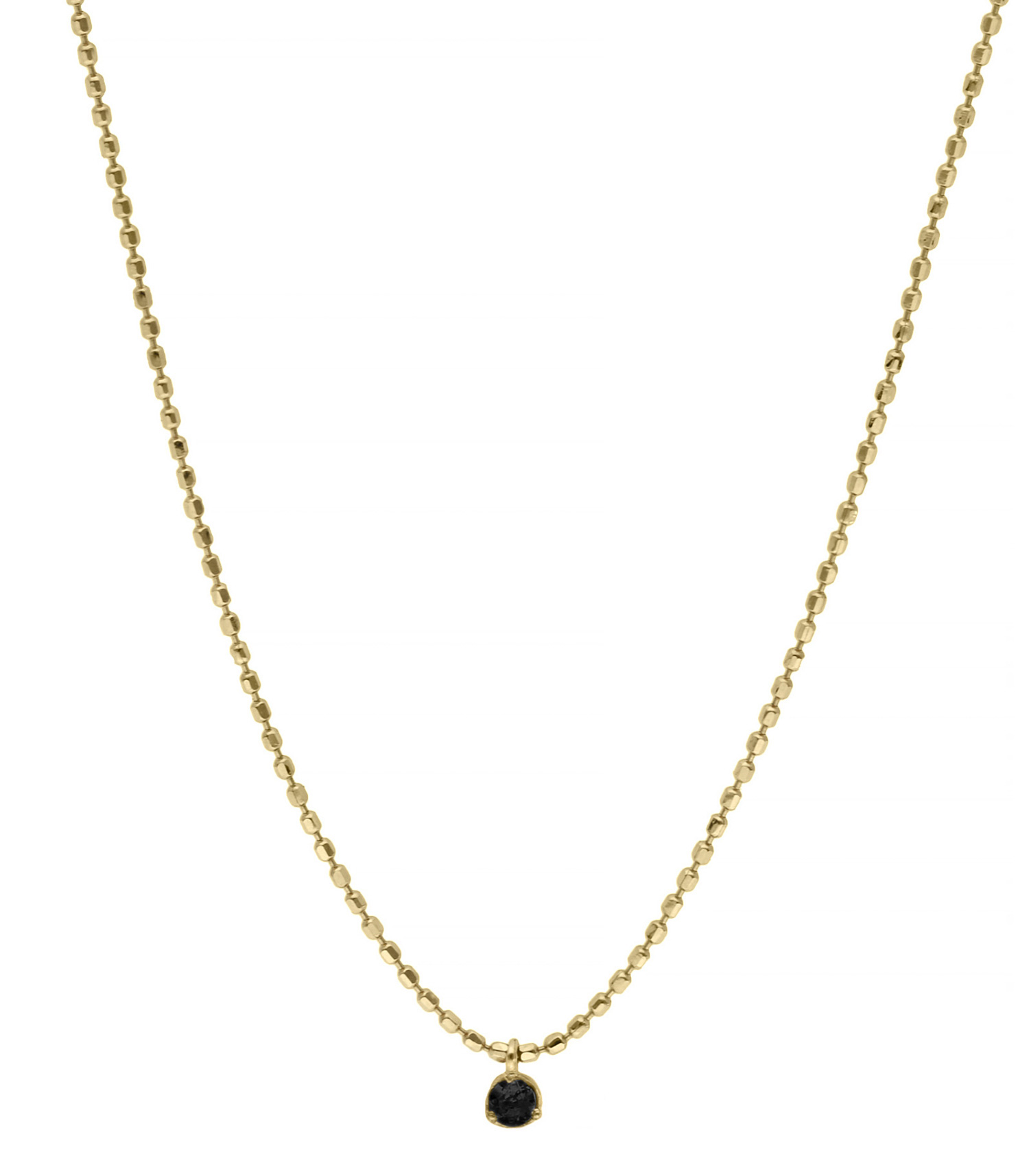 collier diamant noir