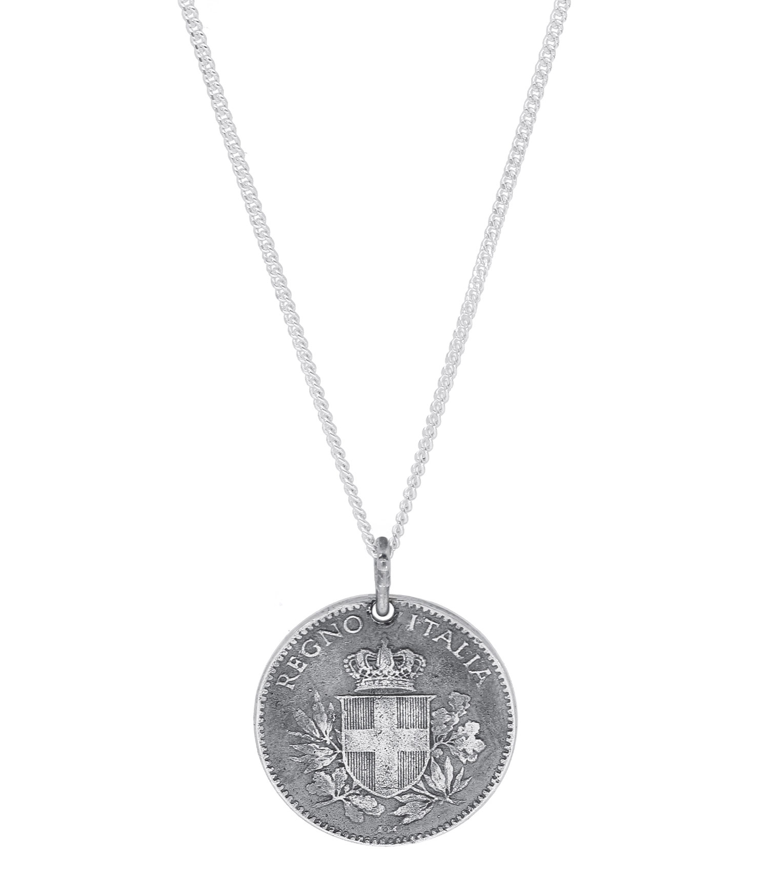 collier argent italie
