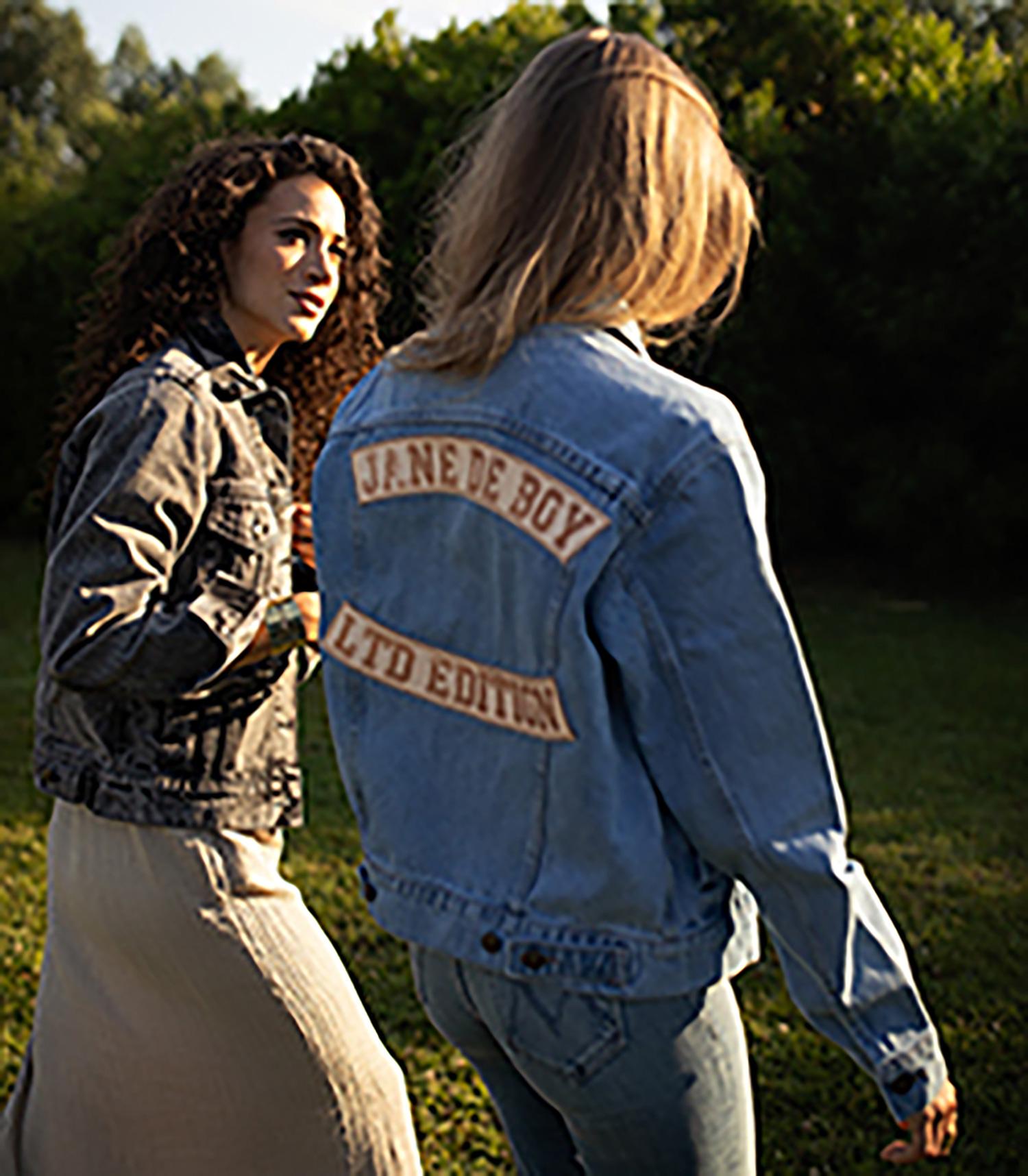 Blouson Denim Understated Leather x Jane de Boy